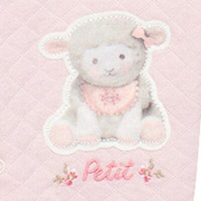 Imagem 4 do produto Jogo Maternidade com Macacão e Manta em viscomfort Ovelhinha Rosa - Petit - 47084344 JG. MAT. MACAC ML C/ GOLA MATELASSE OVELHA FEM -P