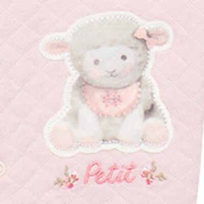 Imagem 4 do produto Jogo Maternidade com Macacão e Manta em viscomfort Ovelhinha Rosa - Petit - 47084344 JG. MAT. MACAC ML C/ GOLA MATELASSE OVELHA FEM -RN