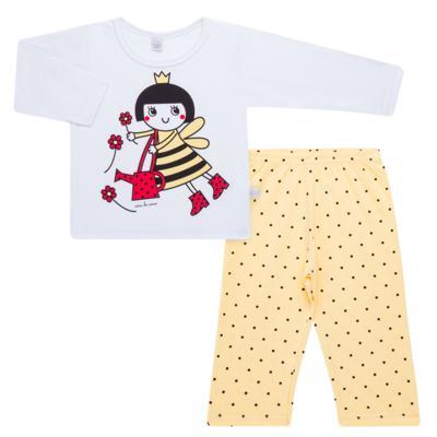 Imagem 1 do produto Pijama longo em malha Abelhinha - Cara de Sono - L2434 ABELINHA L PG-LONGO M/MALHA-4