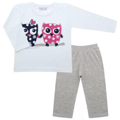 Imagem 1 do produto Pijama longo em malha Corujinhas - Cara de Sono - L1742-CORUJAS L PJ-LONGO M/MALHA-1