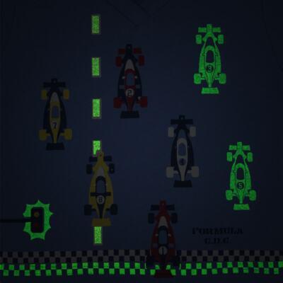 Imagem 3 do produto Pijama curto que Brilha no Escuro Fórmula 1 - Cara de Criança - U2888 FORMULA 1 U PIJAMA CURTO M/MALHA-2