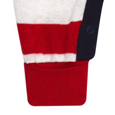 Imagem 5 do produto Jogo Maternidade para bebe com Macacão + Body longo + Manta em tricot  Náutico - Mini Sailor - 47204443 Jogo Maternidade S Longo c/ Body Tricot Vermelho -0-3