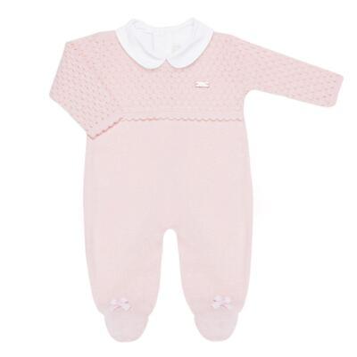 Imagem 2 do produto Jogo Maternidade com Macacão Body e Manta em tricot Rose - Petit - 47004421 Jogo Maternidade c/ Body Regata Tricot/Cot/Fu Rosa -RN