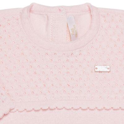 Imagem 5 do produto Jogo Maternidade com Macacão Body e Manta em tricot Rose - Petit - 47004421 Jogo Maternidade c/ Body Regata Tricot/Cot/Fu Rosa -RN