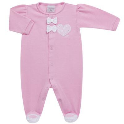 Imagem 2 do produto Jogo Maternidade com Macacão e Manta para bebe em malha Little Princess - Tilly Baby - TB168483 SAÍDA MATERNIDADE FEM ROSA BEBE-P