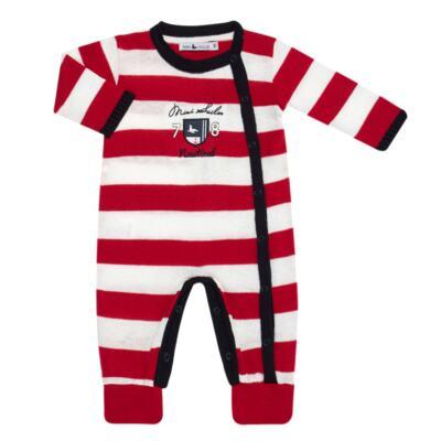 Imagem 3 do produto Jogo Maternidade para bebe com Macacão + Body longo + Manta em tricot  Náutico - Mini Sailor - 47204443 Jogo Maternidade S Longo c/ Body Tricot Vermelho -NB