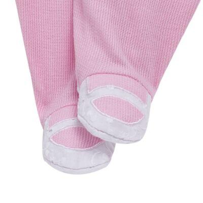 Imagem 6 do produto Jogo Maternidade com Macacão e Manta para bebe em malha Little Princess - Tilly Baby - TB168483 SAÍDA MATERNIDADE FEM ROSA BEBE-RN