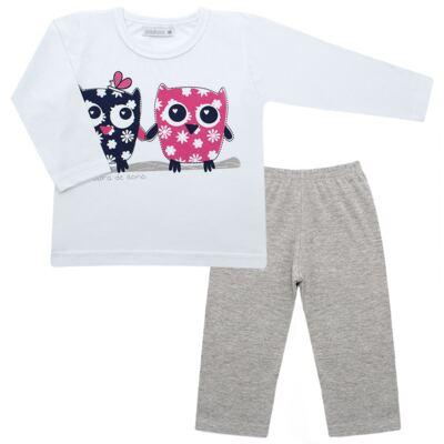 Imagem 1 do produto Pijama longo em malha Corujinhas - Cara de Sono - L1742-CORUJAS L PJ-LONGO M/MALHA-2