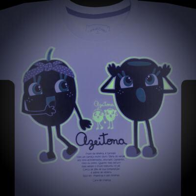 Imagem 4 do produto Pijama longo que Brilha no Escuro Azeitoninha - Cara de Criança - L1638 AZEITONA L PJ-LONGO M/MALHA-2