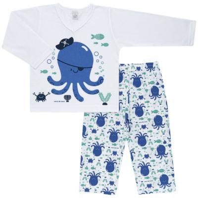 Imagem 1 do produto Pijama longo em malha Polvinho - Cara de Sono - L1991 POLVO L PJ-LONGO M/MALHA -3