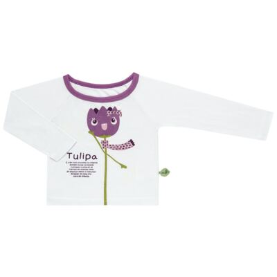 Imagem 2 do produto Pijama longo que Brilha no Escuro Tulipinha - Cara de Criança - L1687 TULIPA L PJ-LONGO CANELADO -3