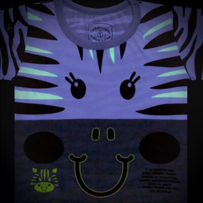 Imagem 4 do produto Pijama longo que Brilha no Escuro Zebrinha - Cara de Criança - L1646 ZEBRA L PJ-LONGO M/MALHA -1