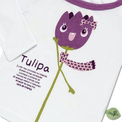 Imagem 3 do produto Pijama longo que Brilha no Escuro Tulipinha - Cara de Criança - L1687 TULIPA L PJ-LONGO CANELADO -1