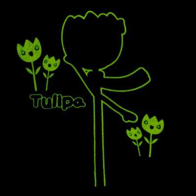 Imagem 5 do produto Pijama longo que Brilha no Escuro Tulipinha - Cara de Criança - L1687 TULIPA L PJ-LONGO CANELADO -2