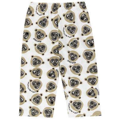 Imagem 6 do produto Pijama longo que Brilha no Escuro Muriqui - Cara de Criança - L1660 MURIQUI L PJ-LONGO M/MALHA -2
