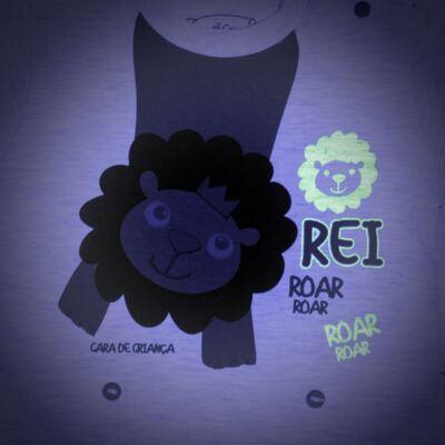 Imagem 4 do produto Pijama 4 botões que Brilha no Escuro Lion - Cara de Criança - 4L1943 REI LEAO 4L PJ 4 BOTOES - LONGO M/MALHA-G