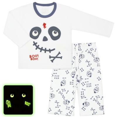 Imagem 1 do produto Pijama longo que brilha no escuro em soft Caveirinha - Cara de Criança - S1659 CAVEIRA BOO S PIJAMA-SOFT SOFT-3
