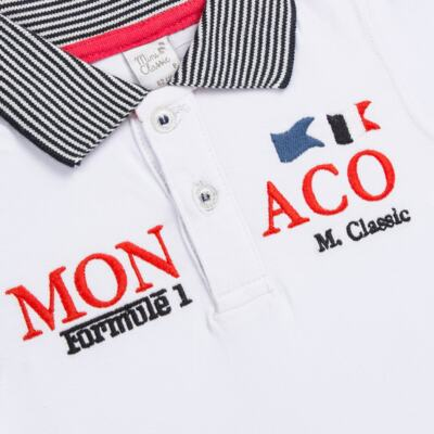 Imagem 2 do produto Camiseta polo em cotton Racing - Mini & Classic - 6012668 CAMISETA POLO M/C COTTON GRAND PRIX-M