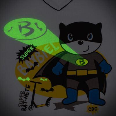 Imagem 4 do produto Pijama que Brilha no escuro BatBiel - Cara de Criança - L2378 BATBIEL L PJ-LONGO M/MALHA -3