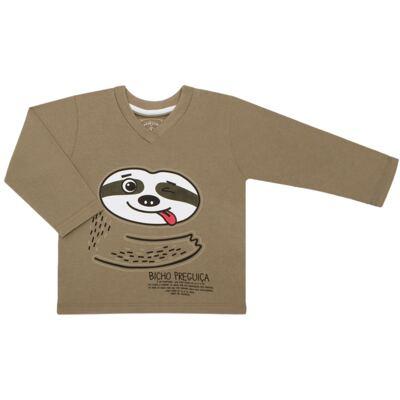 Imagem 2 do produto Pijama que Brilha no Escuro Bicho Preguiça  - Cara de Criança - L1746 BICHO PREGUICA L PJ-LONGO M/MALHA-1