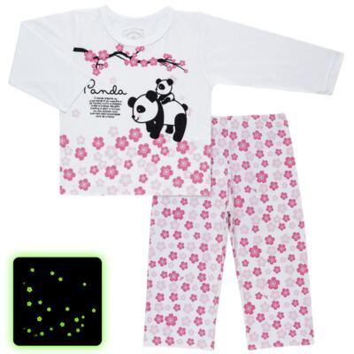 Imagem 1 do produto Pijama longo que Brilha no Escuro Panda - Cara de Criança - L1816 PANDA SAKURA L PJ - LONGO M/MALHA-3