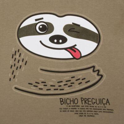 Imagem 3 do produto Pijama que Brilha no Escuro Bicho Preguiça  - Cara de Criança - L1746 BICHO PREGUICA L PJ-LONGO M/MALHA-2