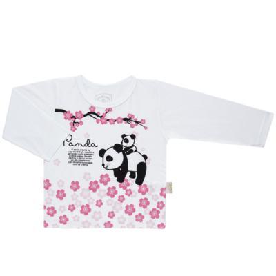 Imagem 2 do produto Pijama longo que Brilha no Escuro Panda - Cara de Criança - L1816 PANDA SAKURA L PJ - LONGO M/MALHA-1