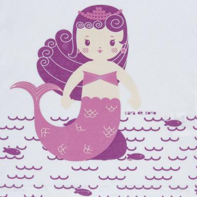 Imagem 3 do produto Pijama longo em malha Mermaid - Cara de Sono - L1995 PEQUENA SEREIA L PJ-LONGO M/MALHA -3