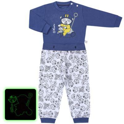 Imagem 1 do produto Pijama 4 botões que Brilha no Escuro Biel Bike - Cara de Criança - 4L2338 BIEL BIKE 4L PJ 4 BOTOES-LONGO M/MALHA-G