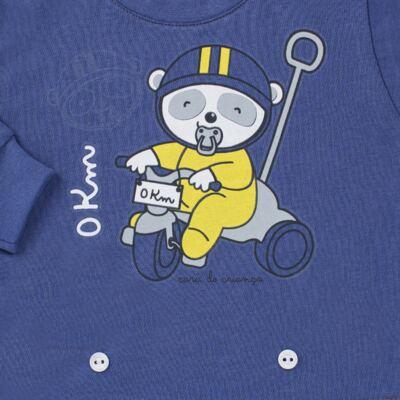 Imagem 3 do produto Pijama 4 botões que Brilha no Escuro Biel Bike - Cara de Criança - 4L2338 BIEL BIKE 4L PJ 4 BOTOES-LONGO M/MALHA-G