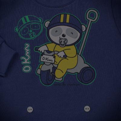 Imagem 4 do produto Pijama 4 botões que Brilha no Escuro Biel Bike - Cara de Criança - 4L2338 BIEL BIKE 4L PJ 4 BOTOES-LONGO M/MALHA-M