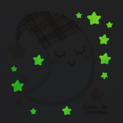 Imagem 4 do produto Pijama longo que Brilha no Escuro em soft Sleepy Moon - Cara de Criança - S2368 LUA S PIJAMA-SOFT SOFT-3