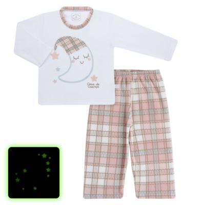 Imagem 1 do produto Pijama longo que Brilha no Escuro em soft Sleepy Moon - Cara de Criança - S2368 LUA S PIJAMA-SOFT SOFT-6
