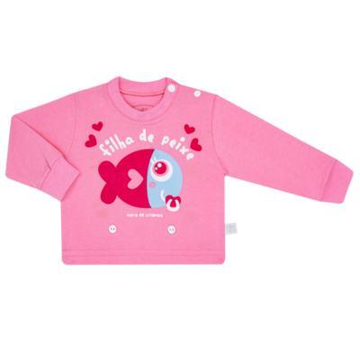 Imagem 2 do produto Pijama 4 botões que Brilha no Escuro Filha de Peixe - Cara de Criança - 4L2703 FILHA DE PEIXE 4L PJ 4 BOTOES LONGO M/MALHA-GG