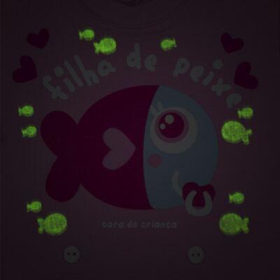 Imagem 3 do produto Pijama 4 botões que Brilha no Escuro Filha de Peixe - Cara de Criança - 4L2703 FILHA DE PEIXE 4L PJ 4 BOTOES LONGO M/MALHA-P