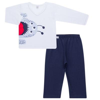 Imagem 1 do produto Pijama longo em malha Monstrinho - Cara de Sono - L2452 MONSTRINHO L PJ-LONGO M/MALHA-3