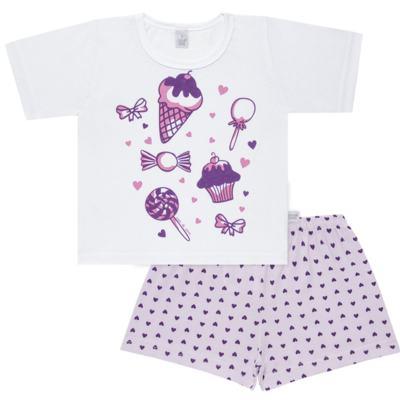 Imagem 1 do produto Pijama curto com Shorts em malha Candy - Cara de Sono - U1998 GULOSEIMAS U PIJAMA-CURTO M/MALHA -2