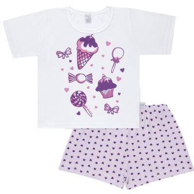 Imagem 1 do produto Pijama curto com Shorts em malha Candy - Cara de Sono - U1998 GULOSEIMAS U PIJAMA-CURTO M/MALHA -1