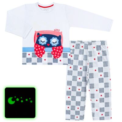 Imagem 1 do produto Pijama longo que Brilha no escuro Coruja - Cara de Criança - L2394 CORUJA L PJ-LONGO M/MALHA-4