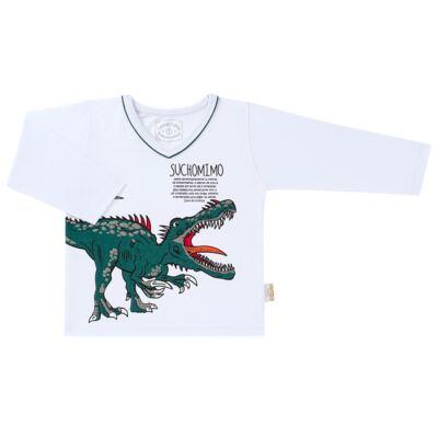 Imagem 2 do produto Pijama longo que Brilha no escuro Dinossauro - Cara de Criança - L2356 DINOSSAURO L PJ-LONGO M/MALHA-3