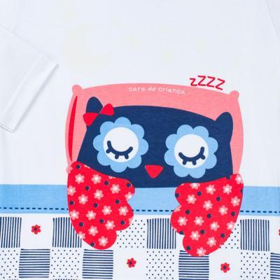 Imagem 3 do produto Pijama longo que Brilha no escuro Coruja - Cara de Criança - L2394 CORUJA L PJ-LONGO M/MALHA-8