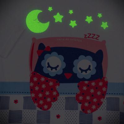 Imagem 4 do produto Pijama longo que Brilha no escuro Coruja - Cara de Criança - L2394 CORUJA L PJ-LONGO M/MALHA-8