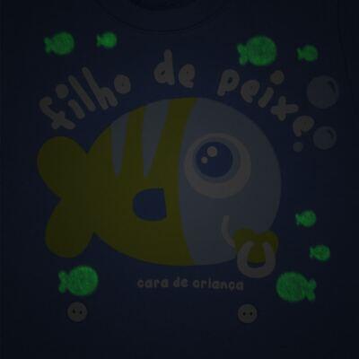 Imagem 3 do produto Pijama 4 botões que Brilha no Escuro Filho de Peixe - Cara de Criança - 4L2704 FILHO DE PEIXE 4L PJ 4 BOTOES LONGO M/MALHA-P