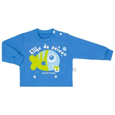 Imagem 2 do produto Pijama 4 botões que Brilha no Escuro Filho de Peixe - Cara de Criança - 4L2704 FILHO DE PEIXE 4L PJ 4 BOTOES LONGO M/MALHA-GG