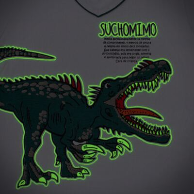 Imagem 4 do produto Pijama longo que Brilha no escuro Dinossauro - Cara de Criança - L2356 DINOSSAURO L PJ-LONGO M/MALHA-2