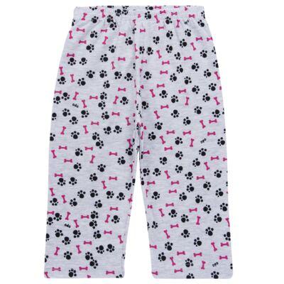 Imagem 6 do produto Pijama longo para bebe que Brilha no Escuro Black Pug - Cara de Criança - L2341 PUG FEM L PJ-LONGO M/MALHA -2