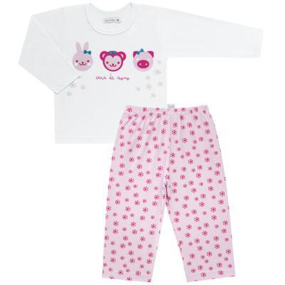 Imagem 1 do produto Pijama longo em malha Bichinhos - Cara de Sono - L1743 ANIMAIS FEM. L PJ-LONGO M/MALHA-4