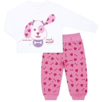 Imagem 6 do produto Pijama 4 botões que Brilha no Escuro Cachorrinha - Cara de Criança - 4L1671-CACHORRINHA 4L PJ 4 BOTOES-LONGO M/MALHA-G