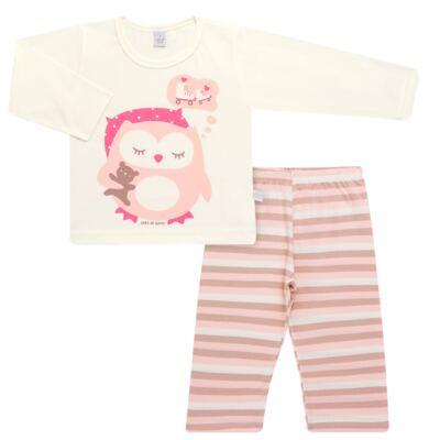 Imagem 1 do produto Pijama longo em malha Corujita - Cara de Sono - L2437 CORUJA L PG-LONGO M/MALHA-2