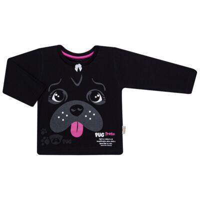 Imagem 2 do produto Pijama longo para bebe que Brilha no Escuro Black Pug - Cara de Criança - L2341 PUG FEM L PJ-LONGO M/MALHA -4